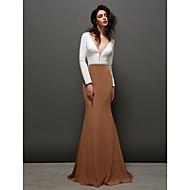 TS Couture® Formal Evening Dress - Trumpet/Mermaid V-neck Sweep/Brush Train Chiffon