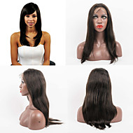 20inch Full Lace Hair Wigs 100% Human Hair Full Lace Natural Straight Indian Virgin Hair  Wigs for Women