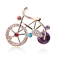 Cute Korean Personalized Jewelry Fashion Small Brooch Bicycle Bike Lovers