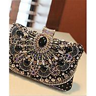 Women Silk Baguette Shoulder Bag / Clutch / Evening Bag / Coin Purse / Mobile Phone Bag - Black