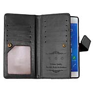 ソニーXPERIA Z3のためのソリッドカラーのカードスタンドレザーケース