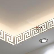 Formas / 3D Pegatinas de pared Adhesivos de Pared Espejo , PS 10*10cm