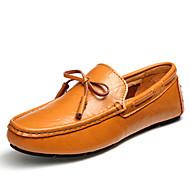 Férfi Vitorlás cipők Mokaszin Nappa Leather Nyár Ősz Hétköznapi Party és Estélyi Fekete Sötétkék Világosbarna Lapos