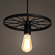 Loft Retro Restaurant Bar Pendant Lamps American country wrought iron chandeliers industrial style wheel