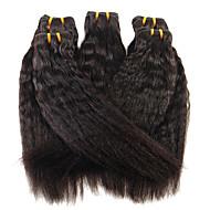 Человека ткет Волосы Бразильские волосы Прямые 12 месяцев 1 шт. волосы ткет