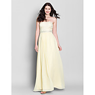 Ankle-length Chiffon Bridesmaid Dress A-line Strapless with Lace / Sequins