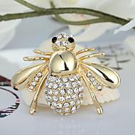 мода милые блестящие стразы брошь пчелы