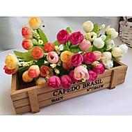 15 Heads fake Flowers rose buds Wedding Spring scenery pearl bract rose buds