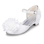 Girls' Shoes Outdoor / Casual Round Toe  Flats Ivory / White