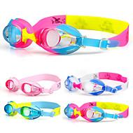Óculos de Natação Anti-Nevoeiro Prova-de-Água Gel Silica Acrilico Azul Rosa Transparentes Azul Claro