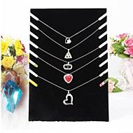 Black Velvet Necklace Easel Jewelry Displays 19*7*28cm