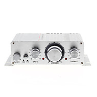 Mini-hallo-Fi-Stereo-Verstärker für iPod MP3-Auto-Motorrad Hause DC 12V / 2A Silber
