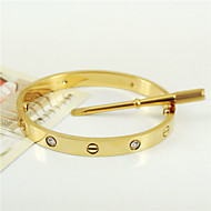 New Style 316L Stainless Steel Screw Bangle with Screwdriver Screws Never Lose Jewelry