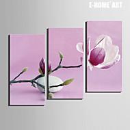 Botânico Impressão em tela 3 Painéis Pronto para pendurar , Vertical