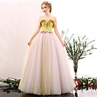 Formal Evening Dress - Multi-color A-line Sweetheart Floor-length Satin / Tulle