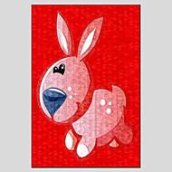 dipinti ad olio del coniglio di stile moderno, materiale tela con telaio in legno pronto ad appendere formato: 60 * 90cm.