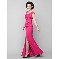 Lanting Bride® Trumpet / Mermaid Mother of the Bride Dress Ankle-length Sleeveless Chiffon / Lace with Lace / Ruching
