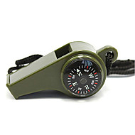 Survival Whistle / Compasses Camping Whistle Plastic Green