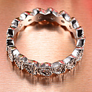 Heart-shaped new fashion quality cubic zirconia lovers ring brand zinc alloy charming jewelry