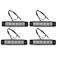 4 x Car Truck Boat Bus Van Indicator 6 LED Light Signal Lamp Waterproof Safe New