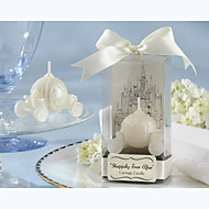 """Happily Ever After"" Carriage Candle Bridal Shower Favors"