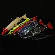 """10 יח ' פיתיון רך / Jerkbaits / Jig Head מבחר צבעים 7.2 g/1/4 אונקיה,77 mm/3-1/8"""" אינץ ',סיליקון / עופרת / מתכת פחמיתדיג בים / הטלת"""
