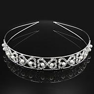 Dame Rhinsten / Legering / Imiteret Perle Medaljon Bryllup / Speciel Lejlighed Pandebånd Bryllup / Speciel Lejlighed 1 Stykke