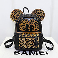 Women PU Casual / Outdoor Backpack Black / Animal Print