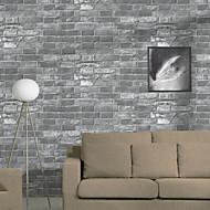 New Rainbow™ Floral Wallpaper Classical Wall Covering , PVC/Vinyl 3D Stereoscopic Brick Retro Brick Pattern Wallpaper