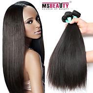 3 PC / Los 8-30inches brasilianischen reinen Haares gerade 100% unverarbeitetes brasilianisches Menschenhaar Webart