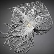 Voile de cage à oiseaux Casque Mariage / Occasion spéciale Plume / Tulle / Imitation de perle Femme Mariage / Occasion spéciale 1 Pièce