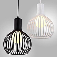 E27 220V 20*24CM 5-10㎡American Retro Contracted, Wrought Iron Birdcage Chandelier Lamp Led Light