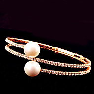 Three Layer Full-Crystal Bangle Bracelet for Wedding Party