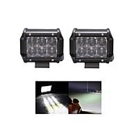 2x 30w OSRAM llevó la luz del trabajo de la barra offroad 12v 24v ATV Offroad inundación para utv camioneta 4x4