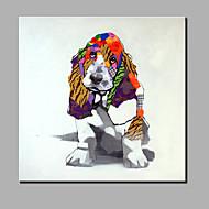 única mão puro abstrato moderno desenhar cão pintura decorativa frameless