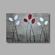 Maalattu Abstrakti Kukkakuvio/KasvitiedeModerni 1 paneeli Kanvas Hang-Painted öljymaalaus For Kodinsisustus