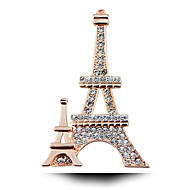 Classic Romantic Paris Studded Eiffel Tower Diamond Brooch.