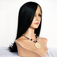 Vrouw Kort Middel Lang Medium bruin Zwart Donkerbruin Haar Natuurlijke haarlijn Met Bangs Synthetisch haar Kanten VoorkantNatuurlijke