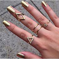 Pierścionki Korygujący Impreza / Codzienny / Casual Biżuteria Stop Damskie Pierścionki na palec środkowy 1set,Regulacja Złoty