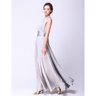 TS Couture® Prom / Formal Evening / Military Ball Dress - Open Back Plus Size / Petite A-line Straps Floor-length Satin Chiffon