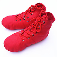 Neutral Design of Fabric Belt Type Fine Jazz Dancing Shoes