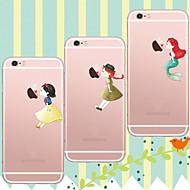 para o iphone 7 maycari®kissing na maçã macio TPU transparente caso volta para o iPhone5 5s / iphone