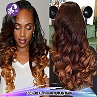 3Pcs/Lot Brazilian Body Wave Ombre Virgin Hair 1B/4/27 Three Tone Color Human Hair Extensions Wholesales.