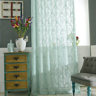 Deux Panneaux Le traitement de fenêtre Rustique Chambre à coucher Polyester Matériel Rideaux opaques Décoration d'intérieur For Fenêtre