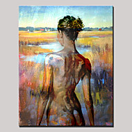 Hand-Painted Beauty Nude Back Abstract Portrait Modern Oil Painting , Canvas One Panel With Frame Ready to Hang 80x120cm