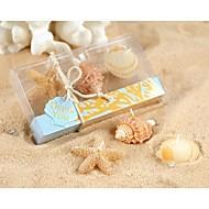 strand themed sjøstjerner og skjell stearinlys satt partiet souvenir, baby shower favoriserer