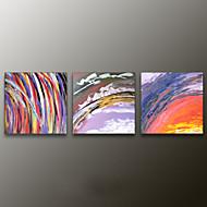 Handgeschilderde AbstractModern Drie panelen Canvas Hang-geschilderd olieverfschilderij For Huisdecoratie