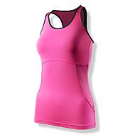 yoga tanque / ciclismo de poliéster das mulheres clothin®&elastano ciclismo mangas colete