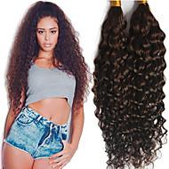 Luffy Hair Unprocessed Brazilian Curly Bulk Hair No Weave #2 Color Virgin Curly Bulk Extensions 3pcs/set
