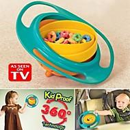 hranjenje zdjele plastičnih 360 stupnjeva rotirajuća fleksibilni djeci zdjelu trening zdjelu rotirajuća posuda žiro dječja hrana ne